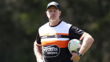Michael Maguire has named Jock Madden at five-eighth for the Tigers' trial.