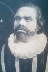 Oliver in the role of Rudolf II in Emanuel Bozděch's tragedy 'Dobroduzi' (The Adventurers) – his last role before escape from Czechoslovakia in 1948.