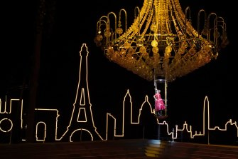 A dress rehearsal of Opera Australia's La Traviata on Sydney Harbour.