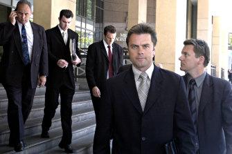 Then-Senior Sergeant Stuart Bateson outside court in 2003.