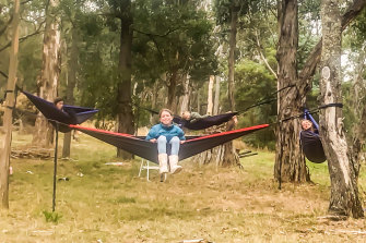 The Ussher family - backyard camping Ballarat-style.
