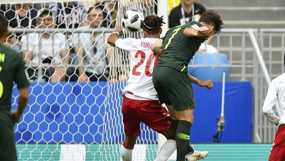 Australia level after video referee spots Danish handball