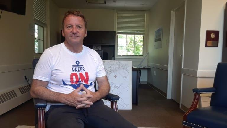 'My job is to keep the story going': Annapolis mayor Gavin Buckley.