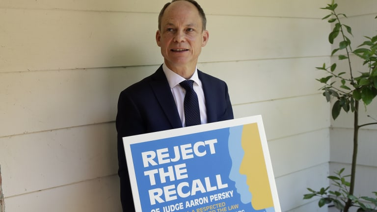Judge Aaron Persky lobbied against a campaign to recall him.