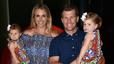 My rock: David Warner has credited wife Candice with keeping him going during his ban.