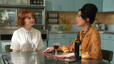 Ginnifer Goodwin and Alicia Coppola in a scene from Why Women Kill.