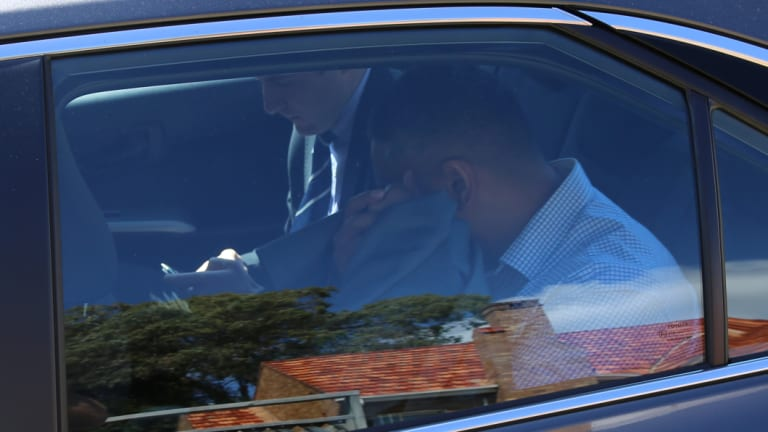 Isaac Teu was taken to Dee Why police station where he was being interviewed.