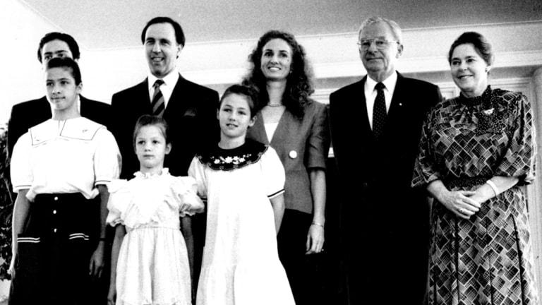 Paul Keating is sworn in as Australia's 24th Prime Minister, December 1991.