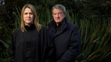 Carley Nicholls and her husband James Hopkins in 2013. Nicholls owned the Ventnor property on Phillip Island controversially rezoned by planning minister Matthew Guy in September 2011.
