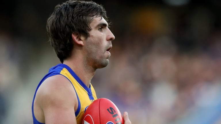 Andrew Gaff has been celebrating West Coast's premiership with teammates.