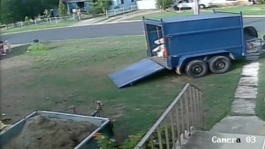 Footage shows the boy near the driveway moments before the crash happened.