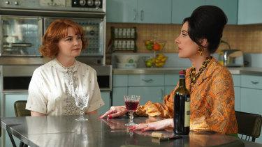 Ginnifer Goodwin and Alicia Coppola in a scene from Why Women Kill.