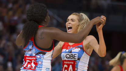 Sweet Swifts comeback over Giants leaves injured Proud choked up
