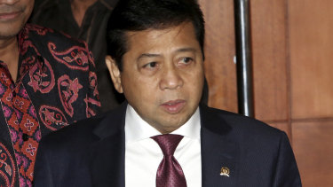 Former Indonesian house speaker Setya Novanto was jailed for 15 years in April 2018.