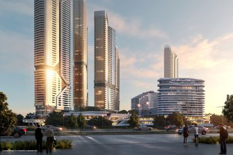 An artist's impression of The Star's planned Gold Coast development.