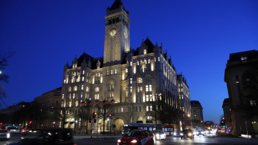 The Trump International Hotel in Washington, D.C. is a favourite among Trump supporters and lobbyists.