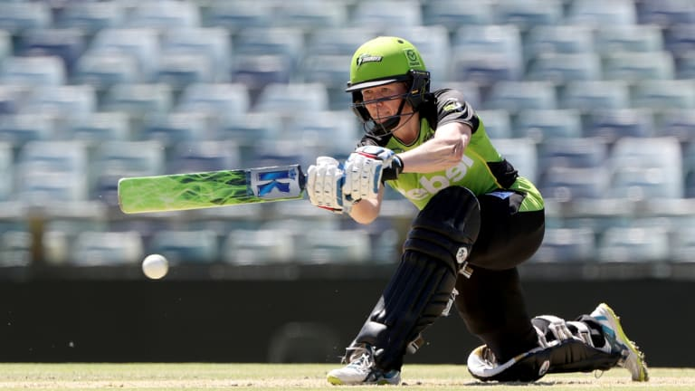 Back in action: Blackwell will be batting for the Sydney Thunder from Sunday.