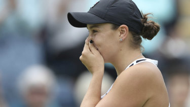 The moment: Barty reacts to her victory – and ascension to world No.1.