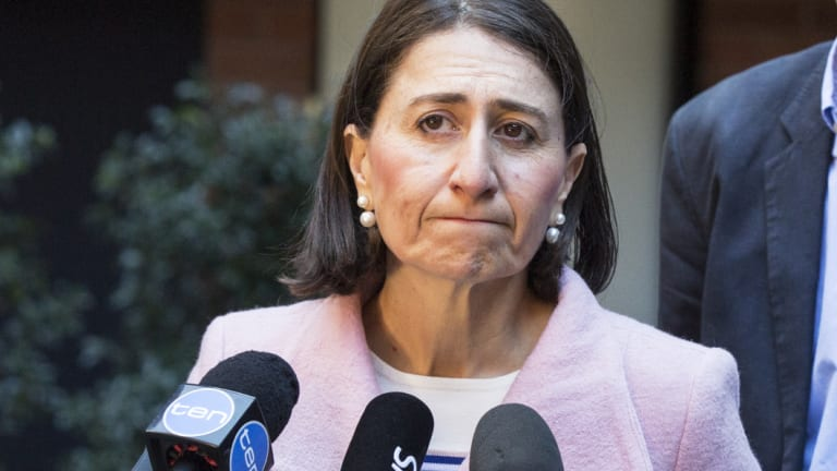 Premier Gladys Berejiklian said she was disappointed with what was happening federally in the Liberal party.