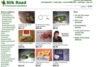 The Silk Road site, shut down in 2013, was a dark-web bazaar for drugs.