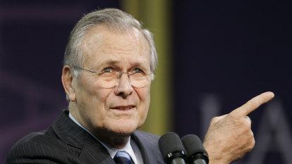 Donald Rumsfeld: The exacting presence who produced inexact outcomes