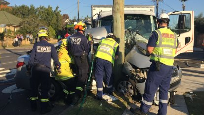 Boy critical after truck and car collide in Sydney's inner west