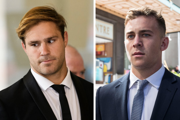 Footballers Jack de Belin and Callan Sinclair are on trial in the NSW District Court.