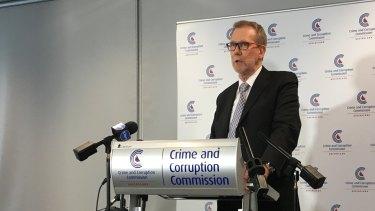 Crime and Corruption Commission chairman Alan MacSporran.