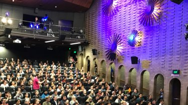 Inside the Schonell Theatre at the University of Queensland.