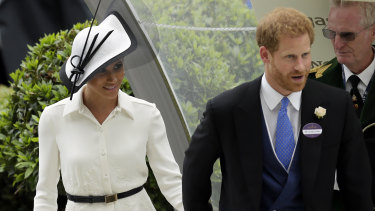 Prince Harry and Meghan Markle make their Royal Ascot debut in 2018.