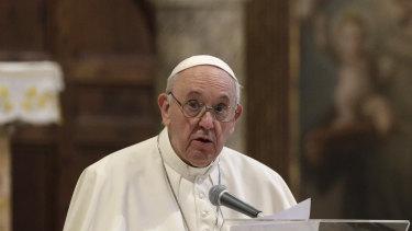 Pope Francis is praying for Joe Biden.