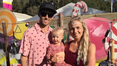 Zac and Cassie Hoogervarst with their 18-month-old Stevie.