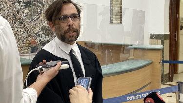 Prosecution lawyer Matan Akiva.