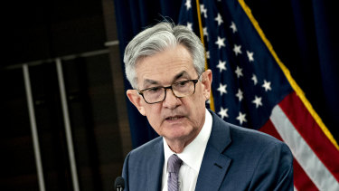 Federal Reserve Board chairman Jerome Powell kept interest rates pinned near zero and says they'll stay there for some time.