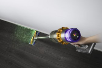 The Dyson V15 Detect has a laser to show you how dirty your floors are.