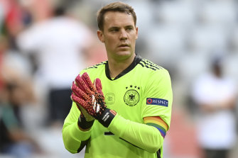 Germany goalkeeper Manuel Neuer is allowed to wear a captain's armband with the rainbow colours at the tournament.
