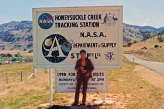 Young space exploration enthusiast Colin Mackellar at the Honeysuckle Creek Tracking Station in 1971.