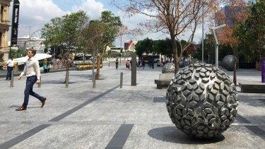 Public art at Brisbane's Reddacliff Place.