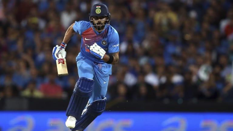 Number cruncher: Indian captain Virat Kohlis runmaking feats in 2018 dwarf Australias top order.