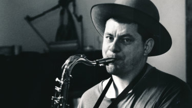 Wilson with his saxophone in 1989.