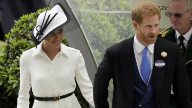 Prince Harry and Meghan Markle arrive at Ascot on Tuesday.