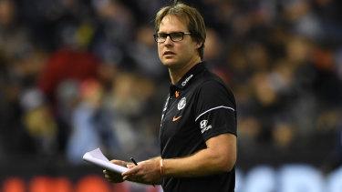 New sensation: Carlton have lifted under interim coach David Teague.