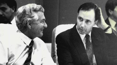 Former prime minister Bob Hawke, left, has a lot to answer for.