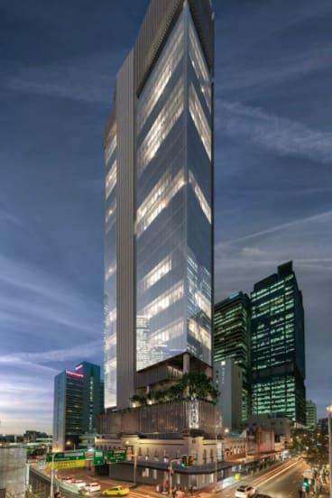 The proposed development at 320 George Street, Brisbane CBD.