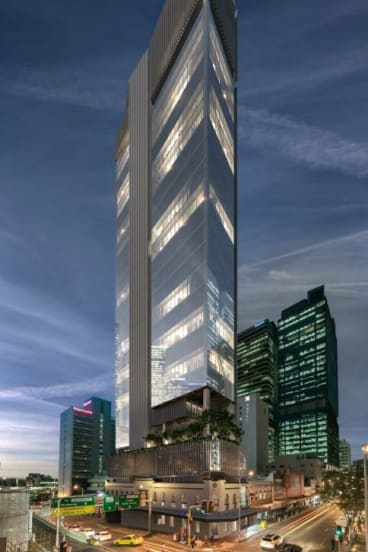 The approved development at 320 George Street, Brisbane CBD.