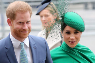 Prince Harry, the Duke of Sussex and Meghan, the Duchess of Sussex in London last March.