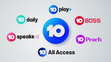 The Ten Network's new logos.