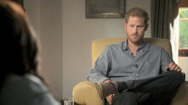 """""""It was a puzzling life,"""" Prince Harry says of life in the royal family."""