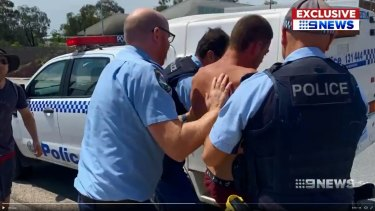 Police arrest Oliver Scales-Copeland after he allegedly stabbed two officers.