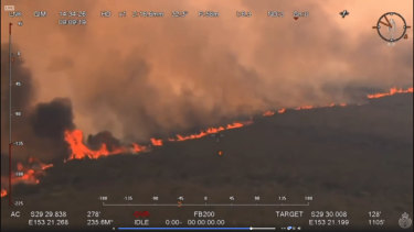 Firefighters and aircraft are working hard to protect villages south of Yamba.